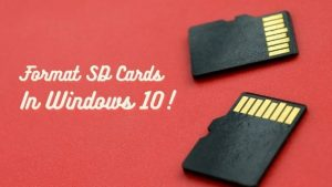How to Format an SD Card on Windows 10