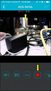 How to record live video using mydlink lite app from D-Link camera?  (iPhone/iPad) | D-Link Blog Home