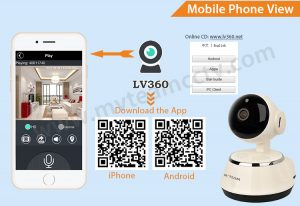How to remote view wifi smart cloud IP Camera by mobile phone? – Mvteam cctv