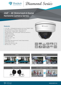 2MP ~ 4K Motorized A Dome Network Camera Series – Ronel