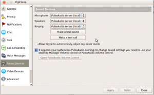 sound - How to use the webcam's microphone in Skype? - Ask Ubuntu