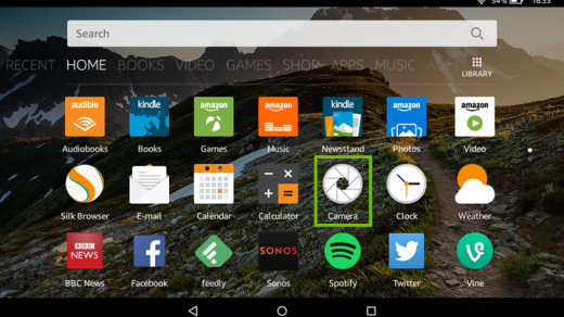 How to Use the Camera on an Amazon Fire Tablet - Support.com