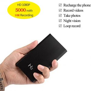 Amazon.com : KAMRE HD 1080P 5000mAh Portable Hidden Power Bank Camera Nanny  Cam, 10 Hours Continuous Video Recording, Perfect Mini Security Spy Camera  for Home and Office and Outdoor, No WiFi Function :