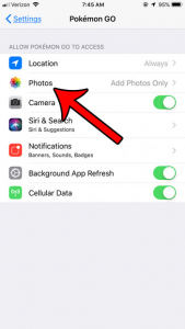 How to Stop Pokemon Go from Saving Pictures to the Camera Roll on iPhone -  Solve Your Tech | Pokemon, Pokemon go, Pokemon names