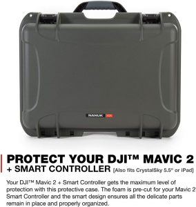 Graphite Nanuk 925 Waterproof Hard Case with Foam Insert for DJI Mavic 2  Pro|Zoom Smart Controller Crystalsky 5.5 or iPad Camera, Photo & Video flex  Bags & Cases