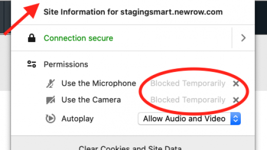 Is Your Webcam Or Microphone Blocked By Browser? - Newrow Knowledge Base