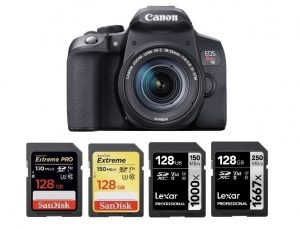 Best Memory Cards for Canon EOS Rebel T8i | Canon Camera Rumors