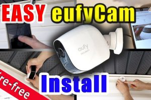 How to install a Wire free smart home security camera system   eufy Cam E  installation guide DIY – Frakking Creations