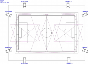 Camera locations and fields of view on the football pitch. | Download  Scientific Diagram