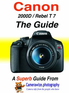 Canon T7 - 2000D guide - camerawize - Camerawize photography