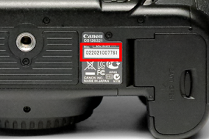 Canon Knowledge Base - How to find the serial number on a Canon EOS DSLR.