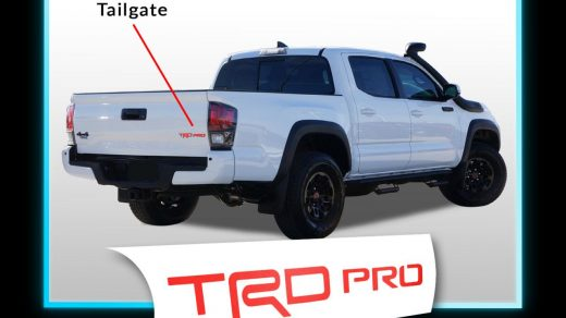 Car & Truck Decals, Emblems & License Frames 2015-2019 Toyota TACOMA Hood  Scoop and Tailgate vinyl Decal Inlay MATTE BLACK phlox.pro