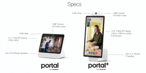 Facebook launches Portal auto-zooming video chat screens for 9/9    TechCrunch