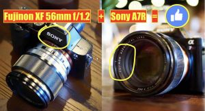 This Guy Mounted the Fujinon XF 56mmF1.2 on Sony A7R and Shows it Covers Entire  Full Frame Sensor Area - Fuji Rumors