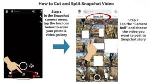 How to Cut and Split a Snapchat Video (Simple Steps) – My Media Social