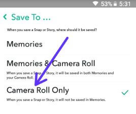How to automatically save snaps to camera roll in android phone –  BestusefulTips