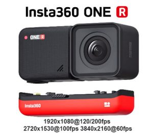 Insta360 ONE R action cam can do 200fps in 1080p! | Hi Speed Cameras