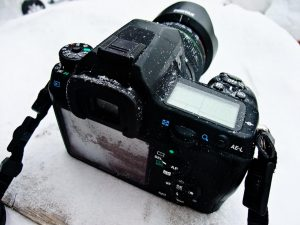 Protect your camera gear when shooting photos in the snow