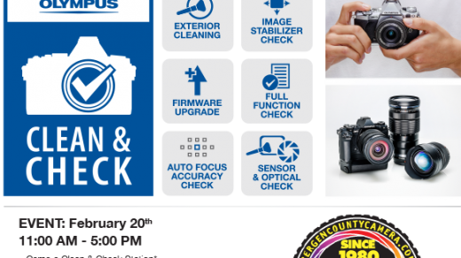 Free Olympus Camera Clean and Check Event February 20 - Bergen County Camera  Blog
