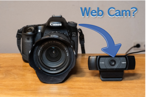 How to turn your Canon DSLR into a webcam for free