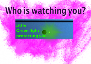 That Green light that warns you the mac webcam is on -