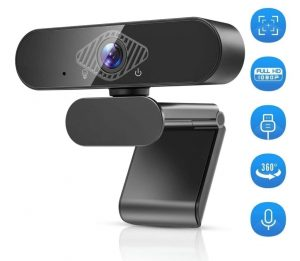 Webcam Recording Online Study Gaming with Adjustable Base Webcam for PC Web  Camera 1080P HD PC