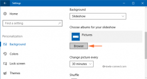 Windows 10 - How to Show Slideshow Images from Camera Roll