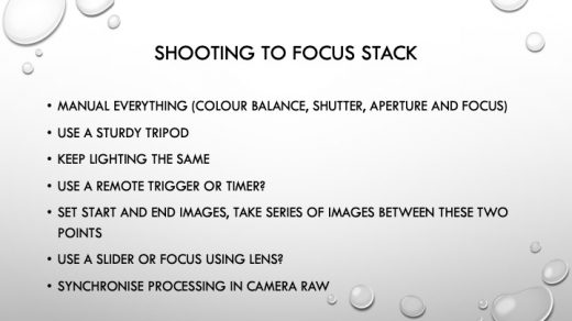 Notes From Steve Hall | East Grinstead Camera Club