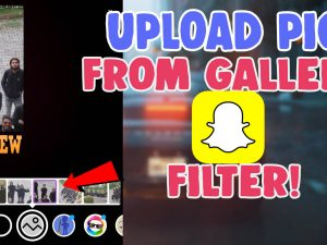 New Snapchat filter Where You Can Send A Picture From Camera Roll or  Gallery - SALU NETWORK