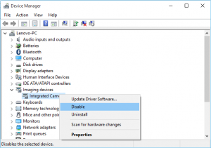 Windows 10 – How to completely disable your webcam camera
