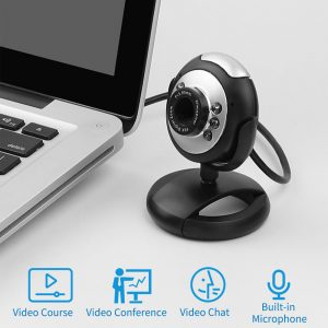 6 LED Webcam USB Built-in Microphone Web Camera for Skype on PC Computer  and Laptops - U`King