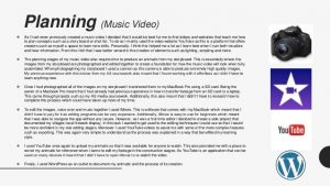 A2 Music Video Media Evaluation