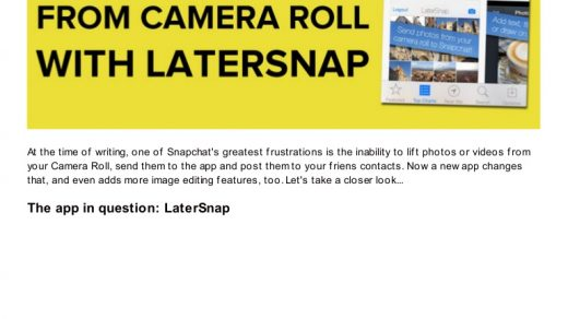 How to Upload Photos to Snapchat From Camera Roll | LaterSnap App