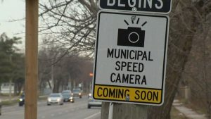 Toronto unveils first of 50 automated speed enforcement signs across the  city - Toronto   Globalnews.ca