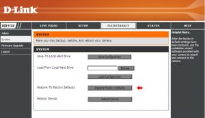 How to reset D-Link DCS-1100 or DCS-1130 camera to factory defaults?   D- Link Blog Home