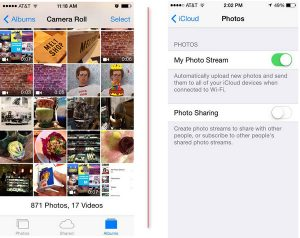 Difference between Camera Roll and Photo Stream