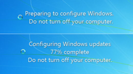 """When it says """"Do not turn off your computer"""" what happens if I do? 