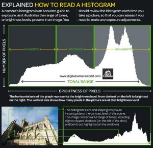 How to read a histogram: what you can learn from your camera's exposure  graph | Photography infographic, Histogram photography, Photography basics