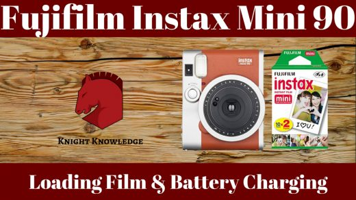 Instax Mini 90: Loading Film and Battery Charging – Knight Knowledge