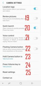 Understanding and use Galaxy S9 camera settings - Galaxy S9 Guides