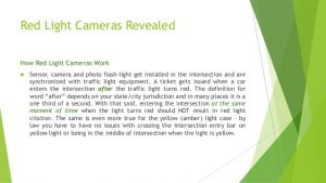 How to defeat your red light camera ticket
