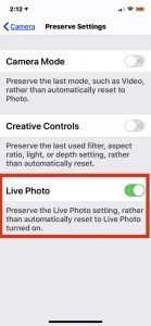 How to Completely Turn Off Live Photo on iPhone Camera | OSXDaily