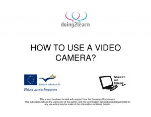 How To Use A Video Camera