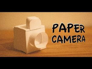 How to make paper camera | The crazy craft - YouTube