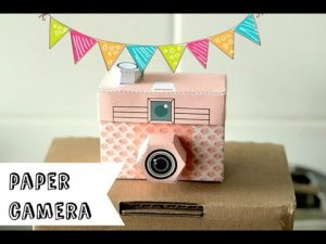 How to make a paper camera DIY (very easy) - YouTube
