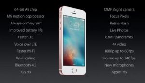 Apple New iPhone SE Smaller but Powerful as the iPhone 6S
