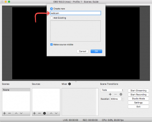 How to Add a Webcam in OBS (Open Broadcaster Software)