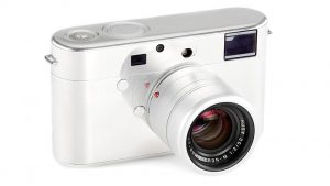 The prototype of Jony Ive and Marc Newson's {RED) Leica Camera
