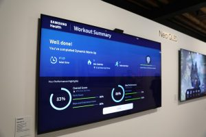 Samsung TVs make your workout easy with a smart, camera-based, AI-powered  trainer