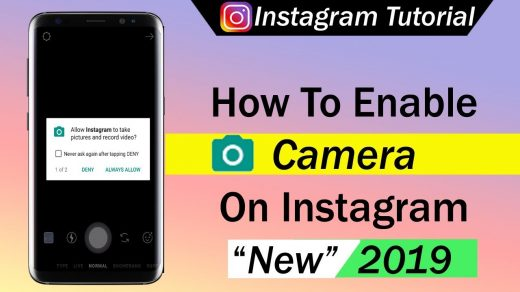 How To Enable Camera On Instagram - YouTube